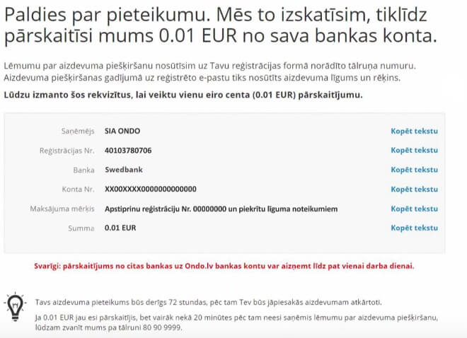 ondo-registracija-bankas-konts